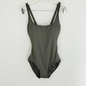 MICHAEL Michael Kors Lace Up Back Swimsuit ~ 6